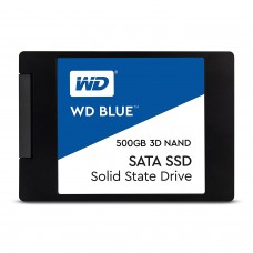 "WD Blue 3D NAND 500GB PC SSD - SATA III 6 Gb/s 2.5""/7mm SSD Drive"
