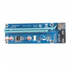 PCIE Riser Card Blue 60cm USB 3.0 PCI-E Express 1x To 16x Extender Riser Card SATA 4PIN Power PCIe USB Adapter