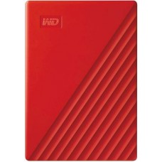 WD My Passport 2TB Portable External Hard Drive, Red