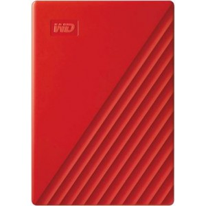 WD My Passport 4TB Portable External Hard Drive, Red