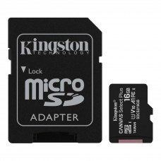 Kingston 16GB microSDHC Canvas Select Plus 100MB/s Read A1 Class 10 UHS-I Memory Card with Adapter