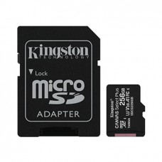 Kingston 256GB microSDHC Canvas Select Plus 100MB/s Read A1 Class10 UHS-I Memory Card with Adapter