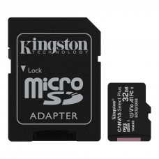Kingston 32GB microSDHC Canvas Select Plus 100MB/s Read A1 Class10 UHS-I Memory Card with Adapter