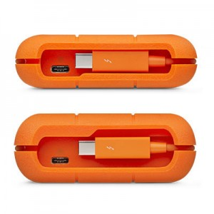 LaCie Rugged Thunderbolt USB-C 4TB Portable Hard Drive