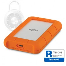 LaCie Rugged Secure USB-C 2TB Portable Hard Drive