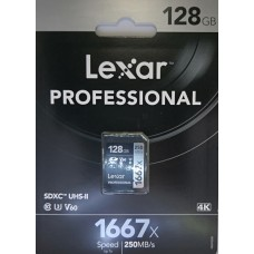 Lexar 128GB Professional 1677x 250MB/s SDHC UHS-II Memory Card
