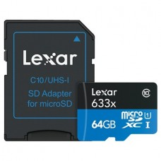 Lexar 64GB MICRO SDXC CARD 633x C 10