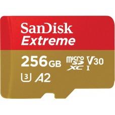 SanDisk Extreme microSDXC Card U3 V30 A2  256GB