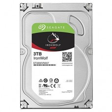 Seagate 3TB IronWolf NAS SATA 6Gb/s NCQ 64MB Cache 3.5-Inch Internal Hard Drive