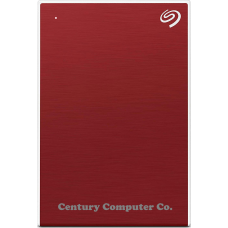 Seagate 1TB Backup Plus Slim Portable External Hard Drive Red
