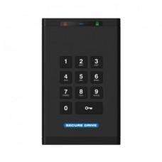 SecureDrive KP Encrypted On-Board Keypad External Portable 1TB HDD