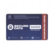 SecureData SecureCard RFID Signal Blocker Secure Card and Wallet Protector
