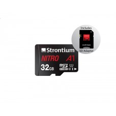 Strontium Nitro 32GB Micro SDHC Memory Card 100MB/s A1 UHS-I U1 Class 10 w/Adapter