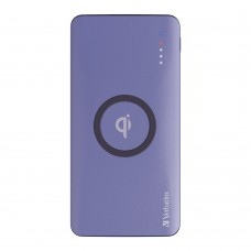 Verbatim Li-polymer Qi, QC & PD 10W Wireless Charging Power Pack 10,000mAh (Purple)