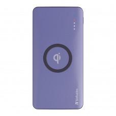 Verbatim Li-polymer Qi, QC & PD 10W Wireless Charging Power Pack 10,000mAh (Purple)