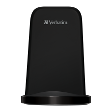 Verbatim 10W Flat Round Wireless Charger - Black