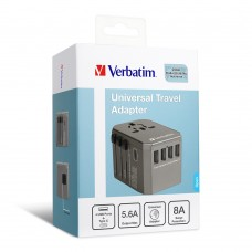 Verbatim 4 Ports Travel Charger (Green)