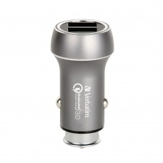 Verbatim Dual Output Metallic Car Charger (Grey)