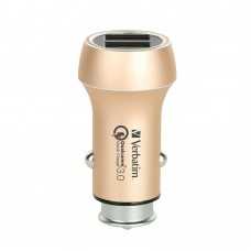 Verbatim Dual Output Metallic Car Charger (Gold)