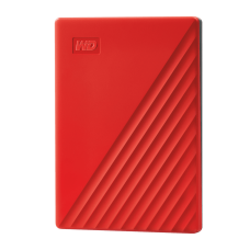 WD My Passport 1TB Portable External Hard Drive, Red