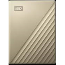 WD My Passport Ultra 2TB Equipped with USB-C™ technology (Gold)